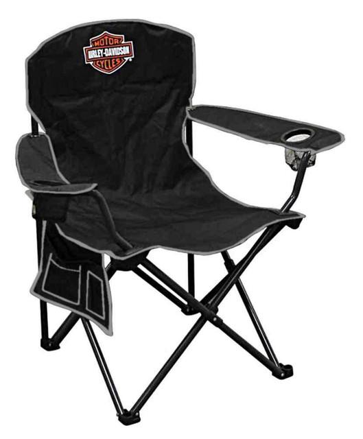Harley-Davidson Compact Bar & Shield XL Chair w/ Drink Holder/Carry Bag CH30264 - Wisconsin Harley-Davidson