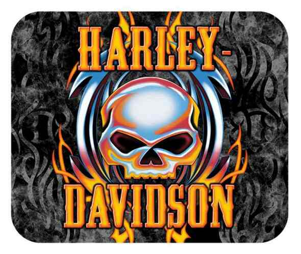 Harley-Davidson Vicious Willie G Skull Tribal Mouse Pad, Thin Neoprene MO63999 - Wisconsin Harley-Davidson