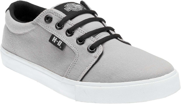 Harley-Davidson Men's Ellis Grey with a White Sole Sneakers Skate Shoes D93448 - Wisconsin Harley-Davidson