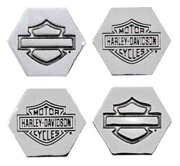 Harley-Davidson Bar & Shield 3D Die Cast Magnet Set, Set of 4, Silver DM30206 - Wisconsin Harley-Davidson