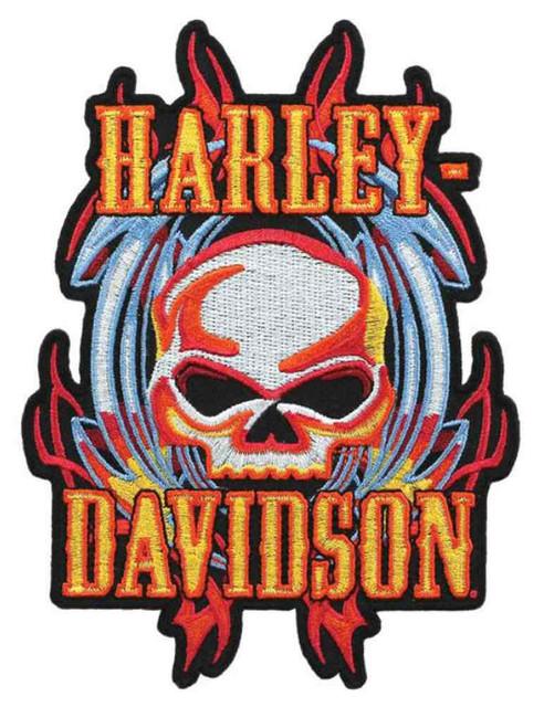 Harley-Davidson Vicious Willie G Skull Emblem, MD Size 4.125 x 5.5 inch EM639993 - Wisconsin Harley-Davidson