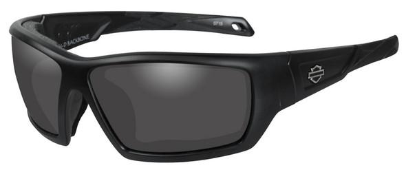 Harley-Davidson Men's Backbone Sunglasses, Gray Lens / Matte Black Frame HDBAC01 - Wisconsin Harley-Davidson