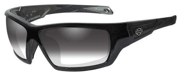 Harley-Davidson Men's Backbone Light Adjusting Sunglasses, Black Frame HDBAC05 - Wisconsin Harley-Davidson