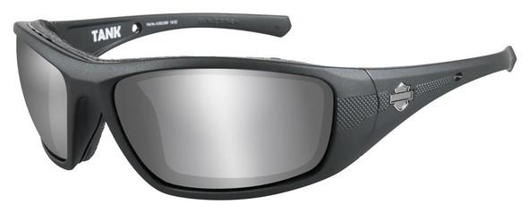 Harley-Davidson Men's Tank Sunglasses, Silver Flash Lens/Black Frame HDTAN02 - Wisconsin Harley-Davidson