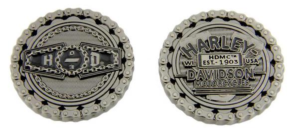 Harley-Davidson Engraved Biker Chain H-D '03 Challenge Coin, 1.75 inch 8007201 - Wisconsin Harley-Davidson
