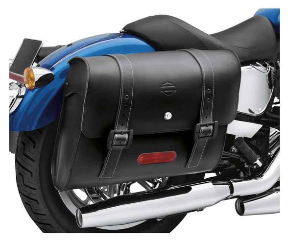Harley-Davidson Detachables Locking Leather Saddlebags, Black 90201328 - Wisconsin Harley-Davidson