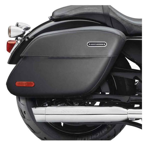 Harley-Davidson Rigid Leather Locking Saddlebags, Fits XL Models 90201321 - Wisconsin Harley-Davidson