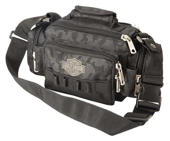"Harley-Davidson ""Molle"" Night-Vision Sidekick Bag, Gray & Black 99403-NIGHT - Wisconsin Harley-Davidson"