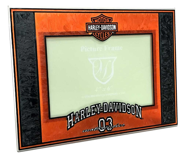 Harley-Davidson Art-Glass Horizontal '03 H-D 4 x 6 Photo Frame, Black HD-HDS-245 - Wisconsin Harley-Davidson