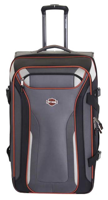 "Harley-Davidson 29"" Thunder Road Pullman Wheeling Luggage, Gray/Black 99330-GB - Wisconsin Harley-Davidson"