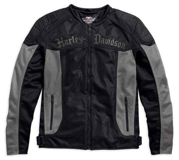 Harley-Davidson Men's Ferris Reflect Piping Mesh Riding Jacket, Black 97170-17VM - Wisconsin Harley-Davidson