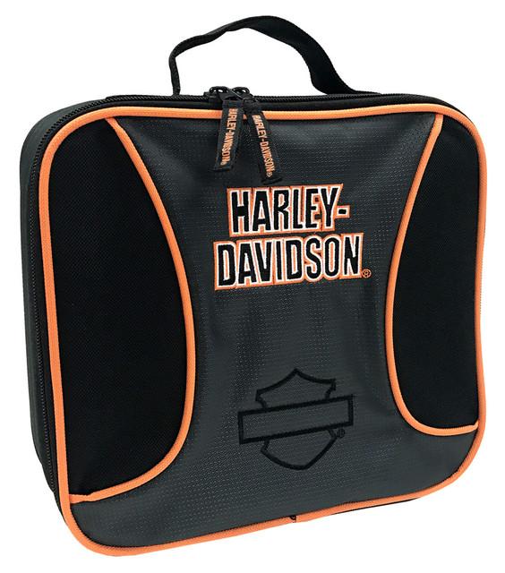 Harley-Davidson Boys' Lunch Box Colorblock Bar & Shield Insulated, Gray 3180176 - Wisconsin Harley-Davidson