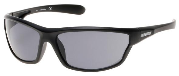 Harley-Davidson Men's Plastic Wrap H-D Sunglasses, Black Frame & Smoke Gray Lens - Wisconsin Harley-Davidson
