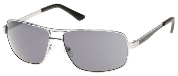 Harley-Davidson Mens Metal Navigator Sunglasses, Satin Silver Frame & Smoke Lens - Wisconsin Harley-Davidson