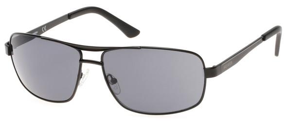 Harley-Davidson Men's Metal Navigator Sunglasses, Satin Black Frame & Smoke Lens - Wisconsin Harley-Davidson