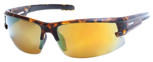Harley-Davidson Mens Semi-Rimless Mirror Polarized Sunglasses, Bronze Flash Lens - Wisconsin Harley-Davidson