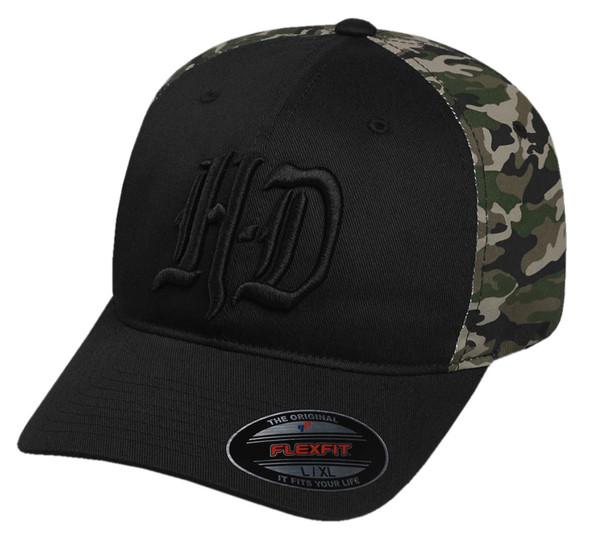 Harley-Davidson Men's Embroidered H-D Camo Stretch Fit Baseball Cap 97604-17VM - Wisconsin Harley-Davidson