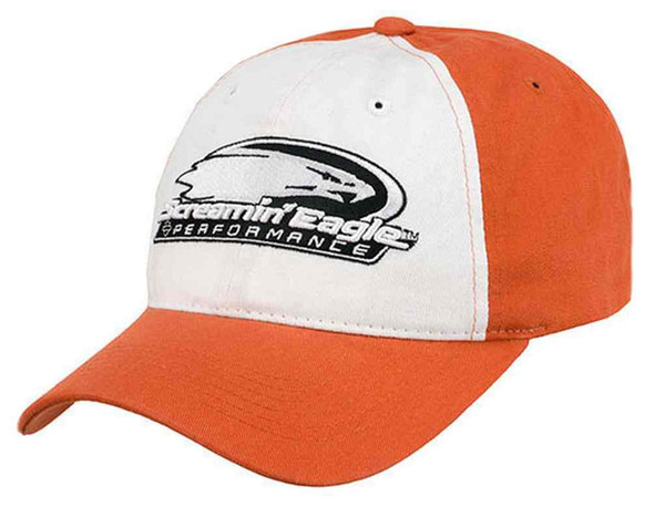 Harley-Davidson Men's Screamin' Eagle Backyard Baseball Cap, Orange HARLMH030600 - Wisconsin Harley-Davidson