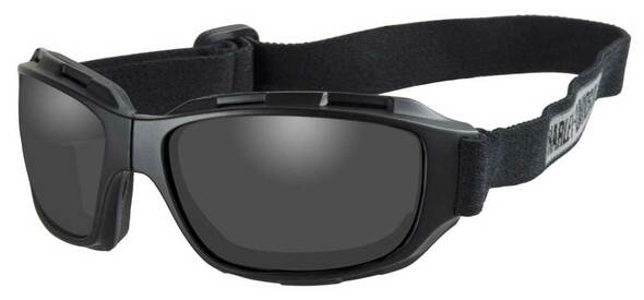 Harley-Davidson Men's Bend Gray Lens Goggles, Collapsible Black Frames HABEN01 - Wisconsin Harley-Davidson