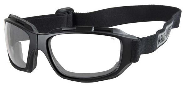 Harley-Davidson Men's Bend Clear Lens Goggles, Collapsible Black Frames HABEN03 - Wisconsin Harley-Davidson