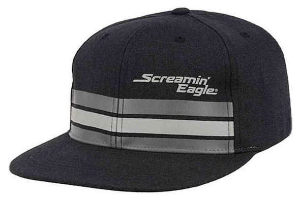 Harley-Davidson Men's Screamin' Eagle Streamline Flat Bill Flex Cap HARLMH0305 - Wisconsin Harley-Davidson