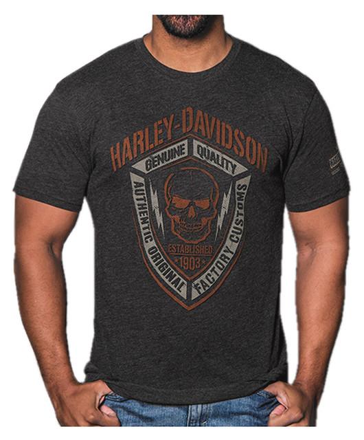 Harley-Davidson Men's Fearless Skull Short Sleeve Crew T-Shirt, Vintage Black - Wisconsin Harley-Davidson