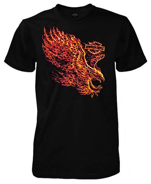 Harley-Davidson Men's Blazing Flight Eagle Short Sleeve T-Shirt, Solid Black - Wisconsin Harley-Davidson