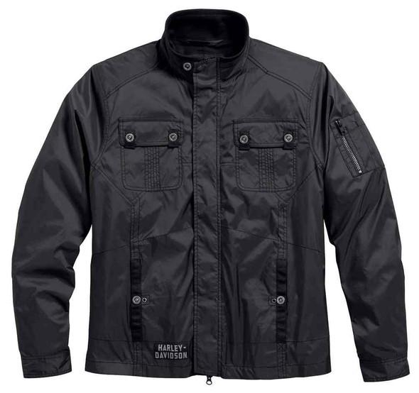 Harley-Davidson Mens Venture Lightweight Nylon Jacket, Charcoal 97422-17VM - Wisconsin Harley-Davidson