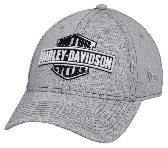 Harley-Davidson Men's 3D Embroidered Baseball Adjustable Cap, Gray 97653-17VM - Wisconsin Harley-Davidson