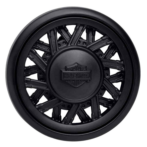 Harley-Davidson Men's Matte Black H-D Spinner Belt Buckle, Black 97777-17VM - Wisconsin Harley-Davidson
