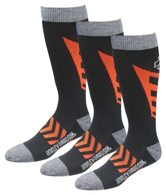 Harley-Davidson Men's CoolMax Performance Rider Socks (Black, Large), 3 Pairs - Wisconsin Harley-Davidson