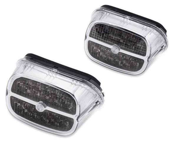 Harley-Davidson B&S LED Tail Lamp - Smoked Lens & Chrome Bezel 67800459 - Wisconsin Harley-Davidson