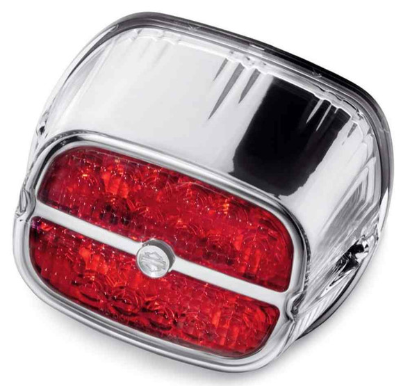 Harley-Davidson Bar & Shield LED Tail Lamp - Red Lens & Chrome Bezel 68116-08 - Wisconsin Harley-Davidson