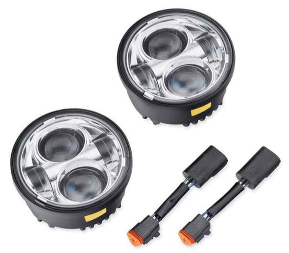 Harley-Davidson Daymaker Projector LED Lamps, Fits FXDF Models, Chrome 67700260 - Wisconsin Harley-Davidson