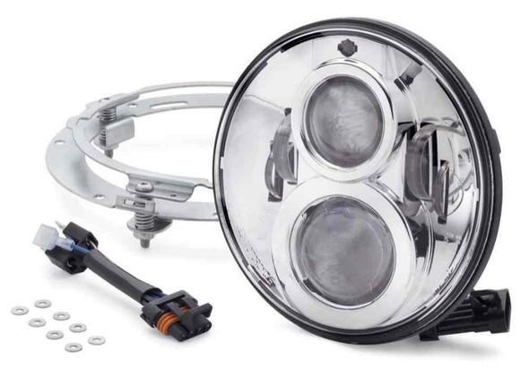 Harley-Davidson 7 in Daymaker Projector LED Headlamp - Chrome Finish 67700264 - Wisconsin Harley-Davidson