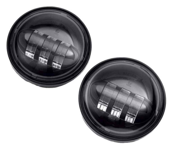 Harley-Davidson 4in Daymaker Projector LED Auxiliary Lamps, Gloss Black 68000173 - Wisconsin Harley-Davidson