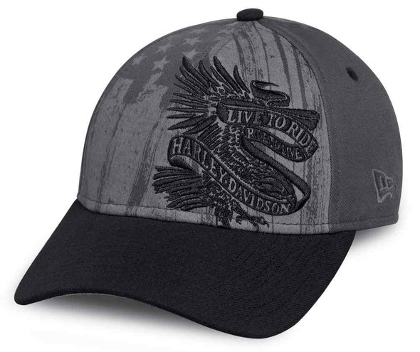 Harley-Davidson Men's Americana Embroidered Baseball Adjustable Cap 97657-17VM - Wisconsin Harley-Davidson