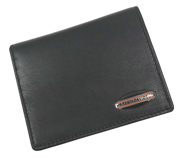 Harley-Davidson Men's Soft Napa Leather Bi-Fold Plus One Wallet NP5731L-BLACK - Wisconsin Harley-Davidson