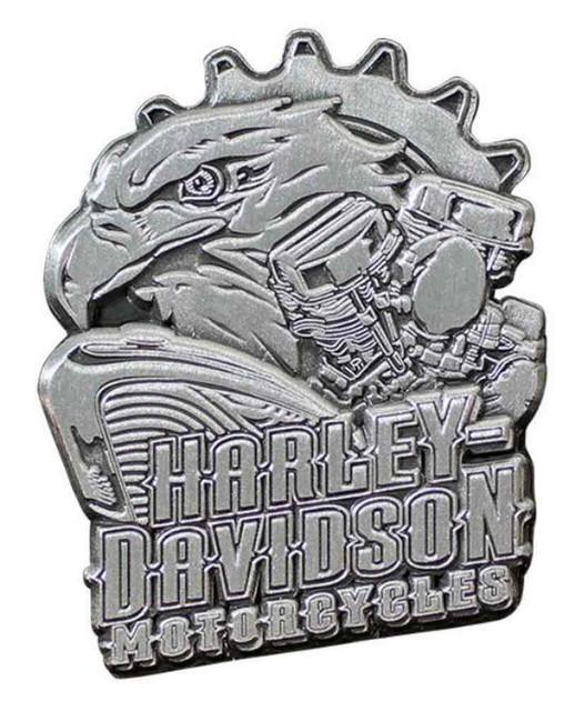 Harley-Davidson 3D Die Cast Eagle Engine Pin, Antiqued Silver Finish P202063 - Wisconsin Harley-Davidson