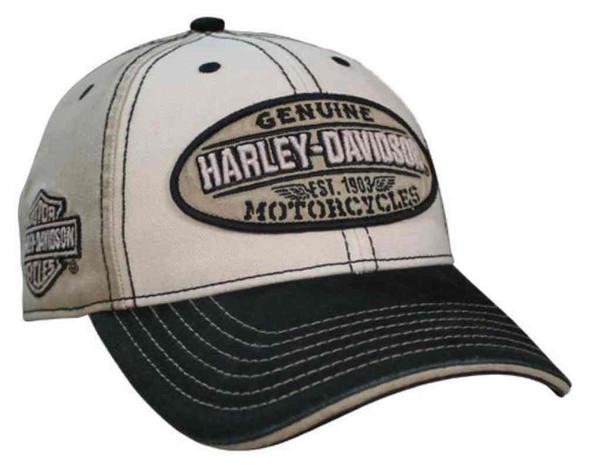 Harley-Davidson Men's Embroidered Genuine Oval Washed Baseball Cap BCC21612 - Wisconsin Harley-Davidson