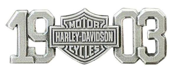 Harley-Davidson 1903 Bar & Shield Pin, Antiqued & Polished Silver Finish P238063 - Wisconsin Harley-Davidson