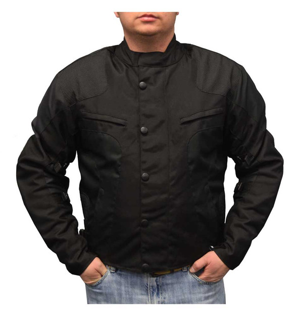 Redline Men's Water-Proof Armored Racing Motorcycle Jacket, Black M-4300 - Wisconsin Harley-Davidson