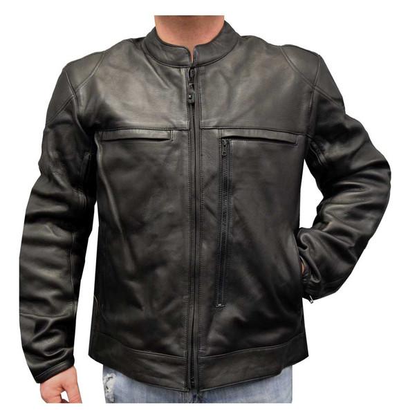 Redline Men's Armor Cowhide Leather Lined Motorcycle Jacket, Black M-13 - Wisconsin Harley-Davidson