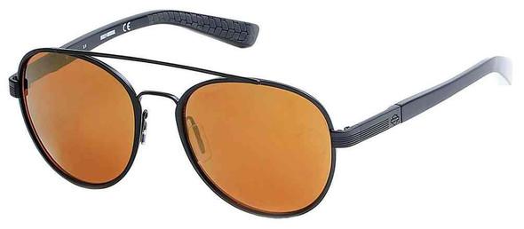 Harley-Davidson Men's Black Label Aviator Metal Sunglasses, Brown Mirror Lens - Wisconsin Harley-Davidson