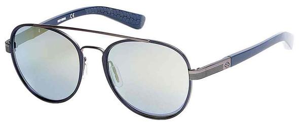 Harley-Davidson Men's Black Label Aviator Metal Sunglasses, Blue Frames & Lens - Wisconsin Harley-Davidson