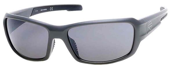 Harley-Davidson Men's B&S Rectangle Sunglasses, Gray Frame & Smoke Gray Lens - Wisconsin Harley-Davidson