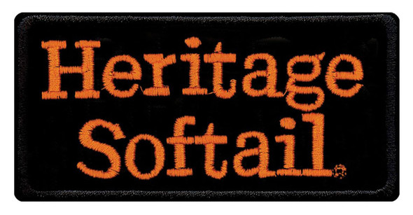 Harley-Davidson Embroidered Heritage Softail Emblem Patch, SM 4 x 2 in EMB048643 - Wisconsin Harley-Davidson
