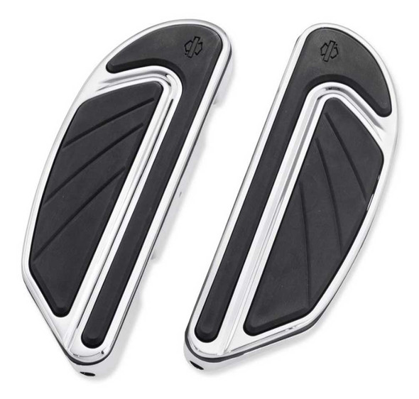 Harley-Davidson Airflow Passenger Footboard Kit - Chrome & Black Finish 50500437 - Wisconsin Harley-Davidson