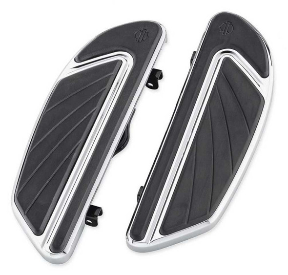 Harley-Davidson Airflow Rider Footboard Kit - Chrome, Softail Models 50500436 - Wisconsin Harley-Davidson