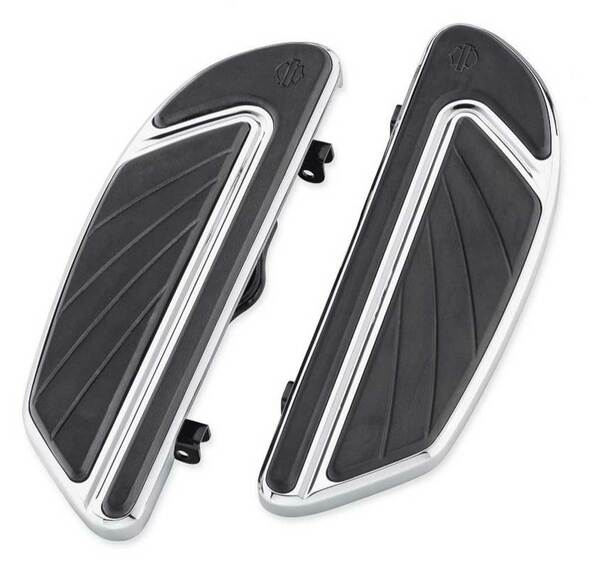 Harley-Davidson Airflow Rider Footboard Kit - Chrome, Softail Models 50500436 - Wisconsin Harley-Davidson